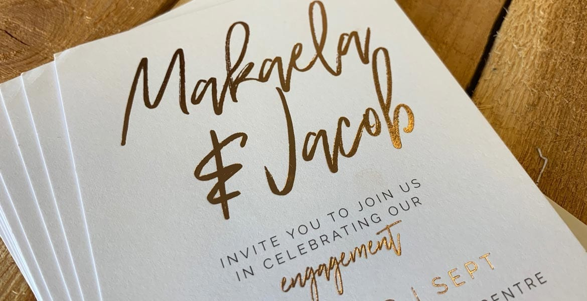 Beautiful Graphic Design | Engagement Invitation | Printnova